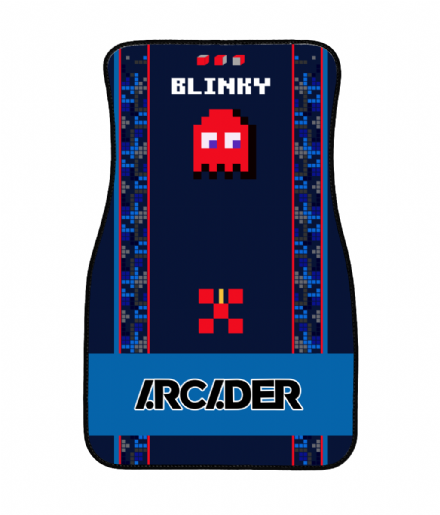 Arcader Blinky Design Front Driver or Passenger Car Mat Based on Pixels Movie
